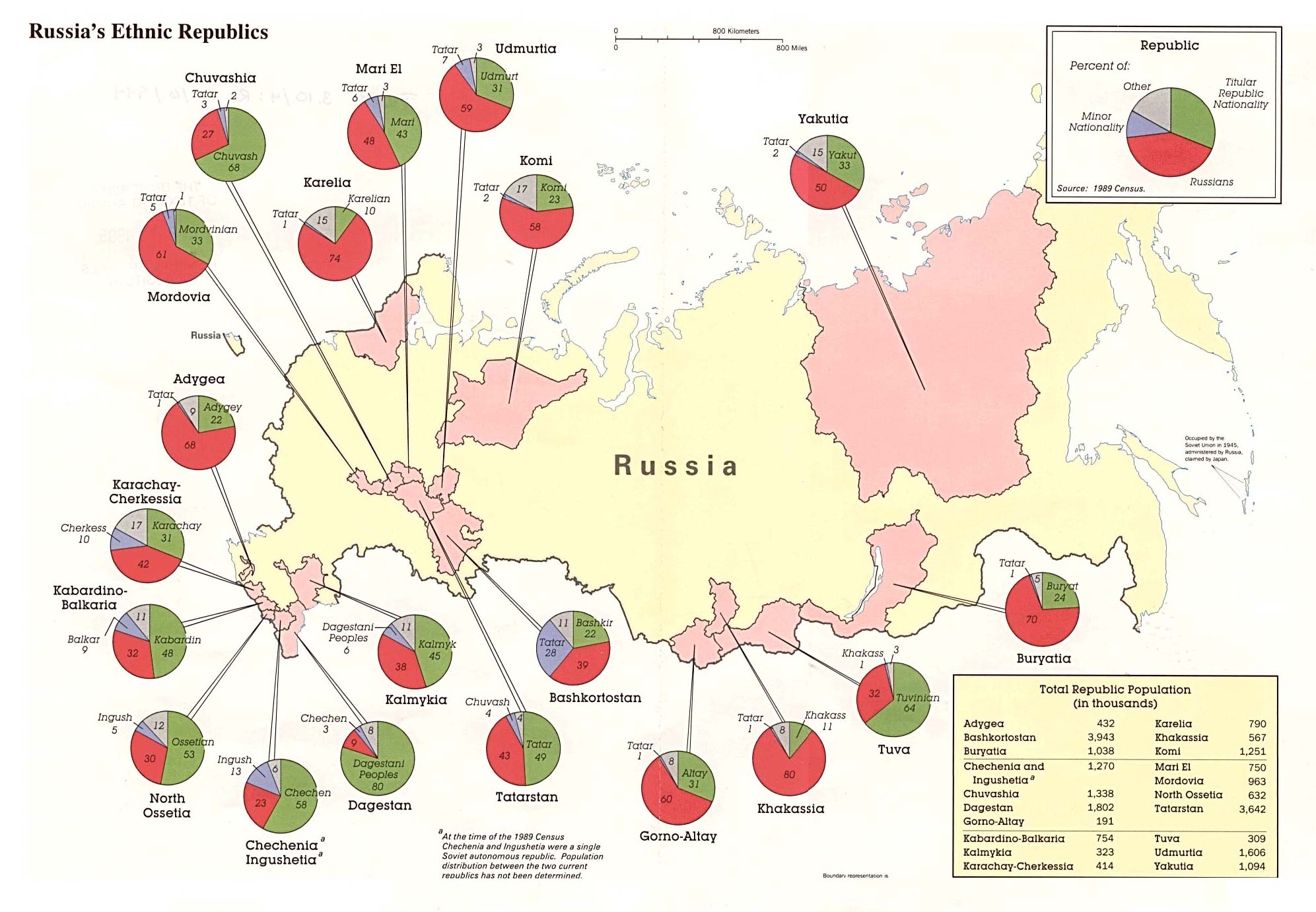 карта народности россии