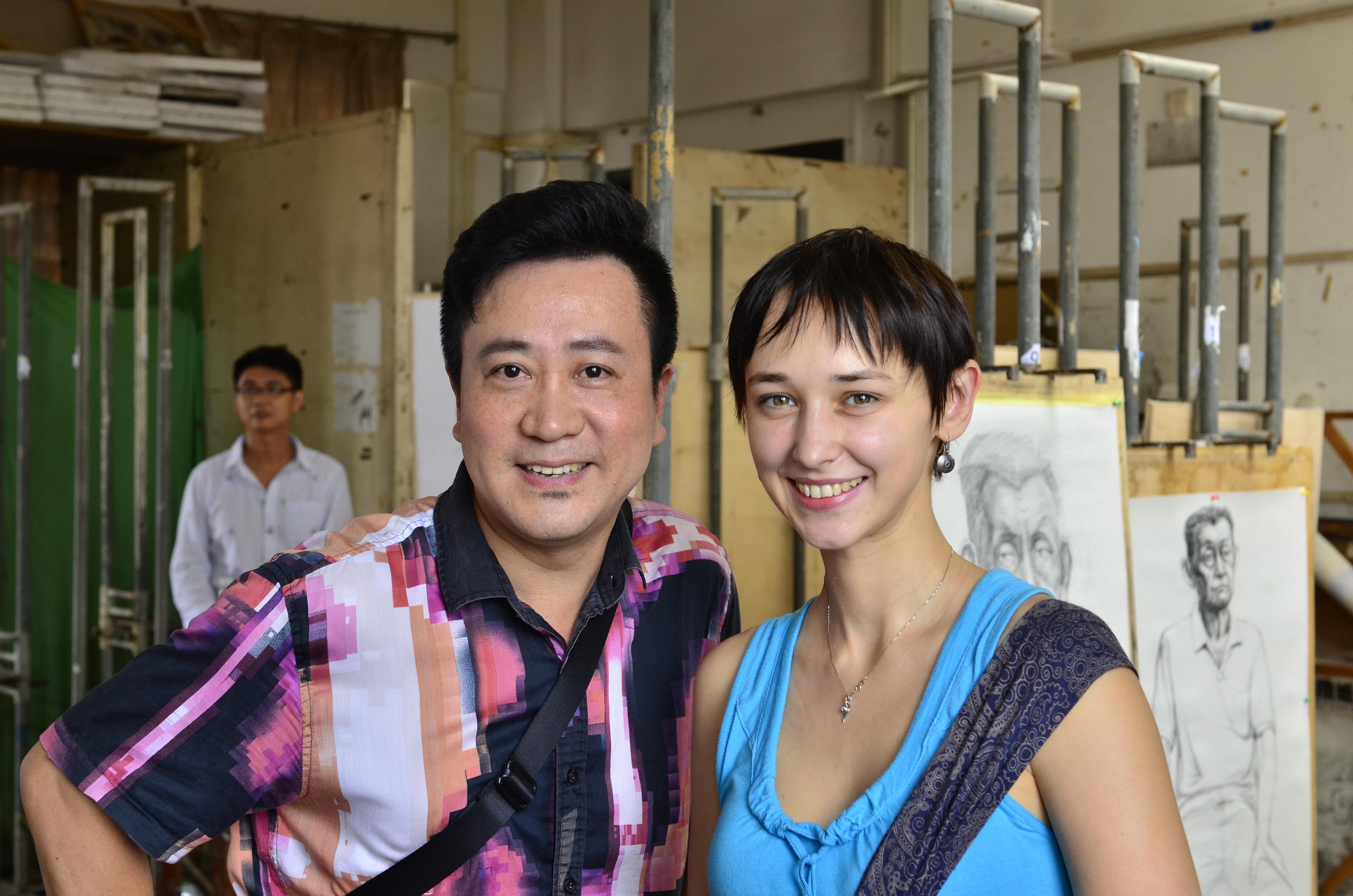 дочка с педагогом китайцем