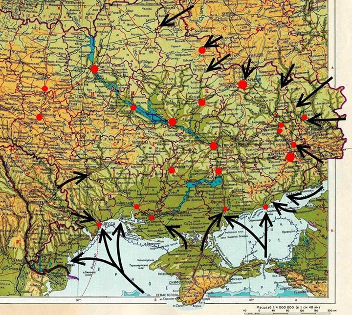 карта вторжения