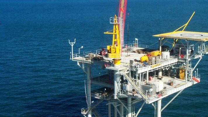 газ в море