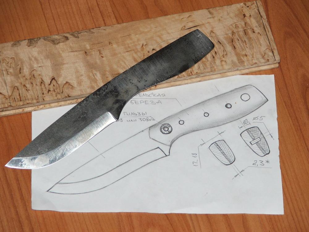 рисунок ножа