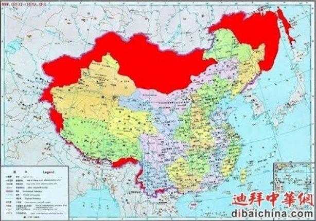 карта китая точная первая