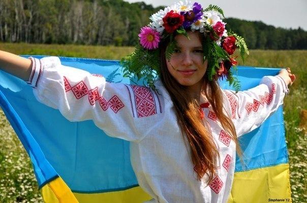 українка.у.вишиванці.