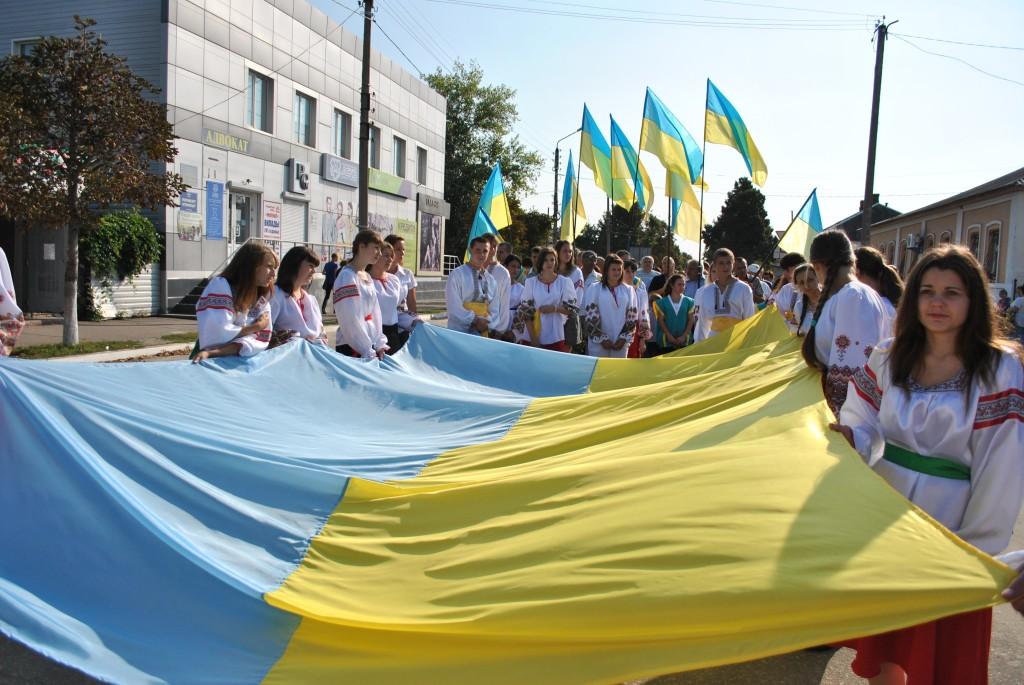 флаг.украины.в.луганске.