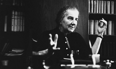 Israeli Prime Minister Golda Meir in Her Office