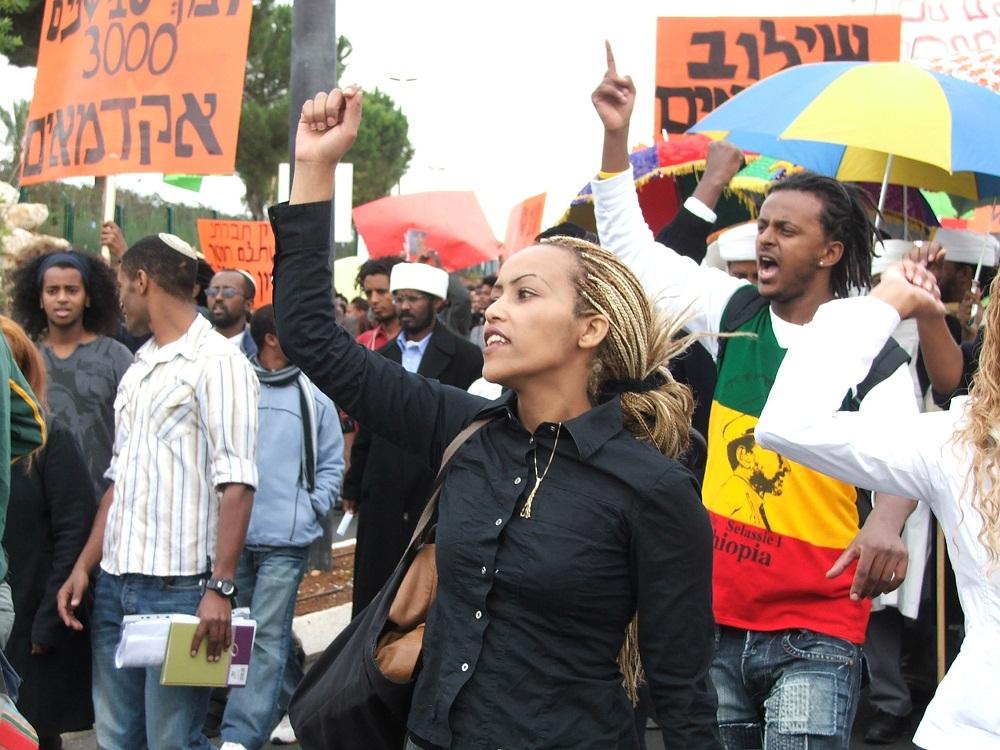 евреи.протест.чёрные.