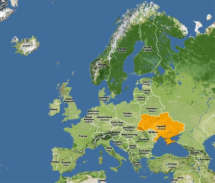 украина.карта.европы.